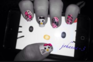Nails: Hello_Kitty by hiannis12