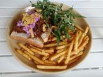 Pulled Pork Sandwich with Truffle Fries by nosugarjustanger