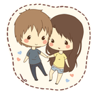 Cut me chibi couple SAMPLE by BosziComm