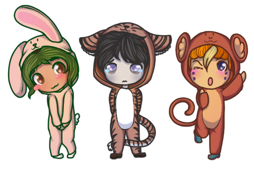 Chibi Chinese New Year Gijinkas by Painted94
