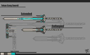 Warframe [Tekan - Long Sword Concept] 2.0 by BlazingCobalt