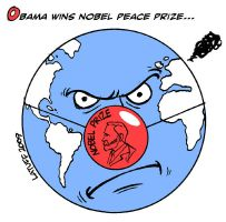 Obama wins Nobel PEACE Prize by Latuff2
