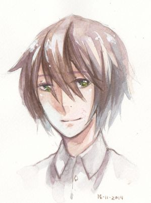 Watercolor : headshot by ShiSherry