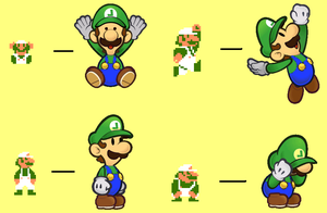 8-bit Paper Luigi by Painbooster1