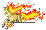 Dashing Rapidash by DemiSaurusRex