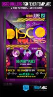 Disco Rollers Party Flyer Templates by ImperialFlyers