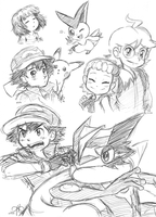 pen sketches by Rainmaker113