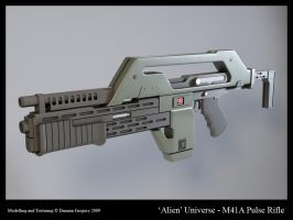 Alien Series - Pulse Rifle by heretik66