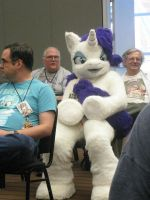 Rarity at her panel by Rennon-the-Shaved