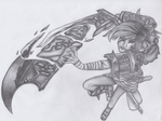 League Of Legends - Riven Drawing 1. by marko0121