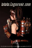 steampunk girl jet pack by Lagueuse
