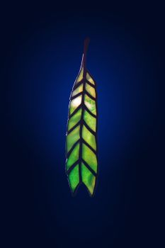 Stained glass suncatcher Feather by zyklodol