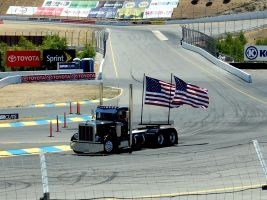 Old Glory PETERBILT USA Flag by Partywave