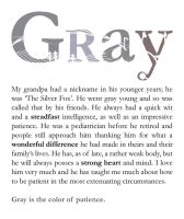 Gray is the color by Cionie