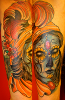 day of the dead gypsy head by mechaphenomenon