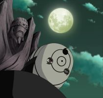 Tobi, Gedo Statue and the Moon by TheBoar