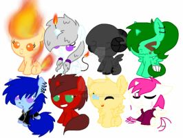Mlp Filly and colt adopts by S-K-Y-L-I