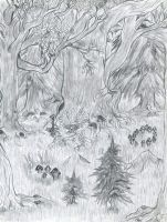 A magical forest by draks