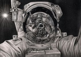 'The Final Frontier' graphite drawing by Pen-Tacular-Artist