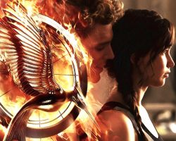 The Hunger Games: Catching Fire Katniss and Finnik by StalkerAE