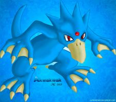 Pokemon -055 Golduck- by Junleashed