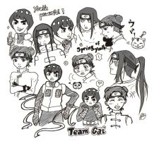 Sketch I: Team Gai by crooquete