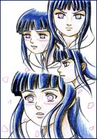 Hinata: Drawing faces by ArisuAmyFan