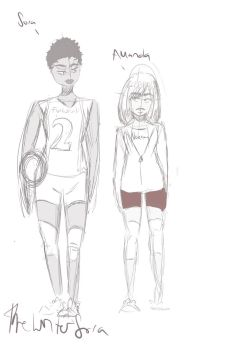 Furkurodani volleyball setter and nekoma's manager by thewritersora