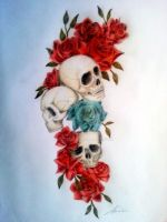 Rose Skull by Aleiino