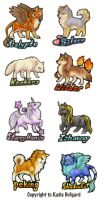 Charm Badges - rounds 5 6 7 by Shadow-Wolf