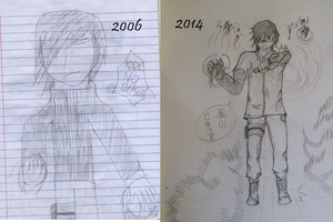 Time Capsule Comparison 2006-2014 by kenchinblade