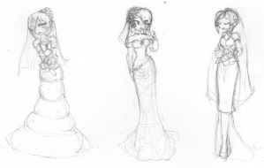 Wedding dresses Doodles by ShadowDemon101