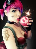 League Of Legends Vi Jinx Ziggs by AxelTakahashiVIII