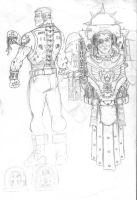 Space marine sketches by cyphercodicer2