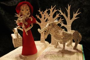 Little Red Riding Hood Book Sculpture by wetcanvas
