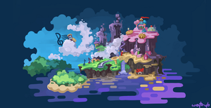 Rayman World Map by wojtryb