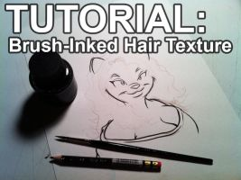 TUTORIAL: Brush-Inked Hair Texture (feat. Whitney) by PeterAndCompany