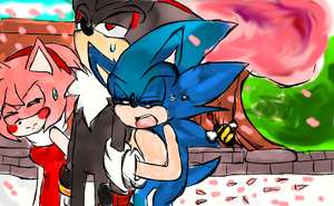 shadow! amy! save me  from this monster! by RougamyLover8