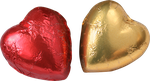 red and golden heart png by Nexu4