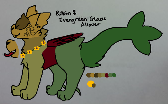Robin~Evergreen Glade Allover (CLOSED) by WildestPath