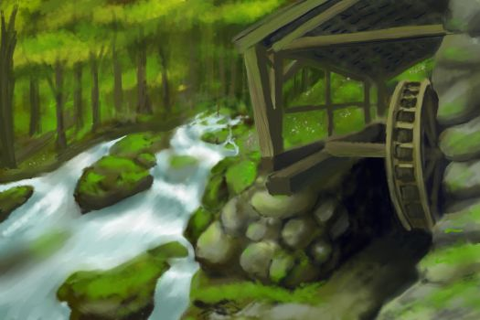 Speedpaint--Old Mill by ShadowSnow