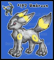 Pokemon: Umbreon 2012 by AirRaiser