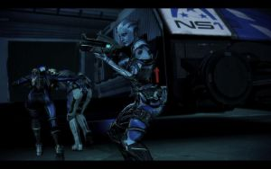 ME3 Liara, Shepard and Ashley by chicksaw2002