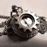 Gearface Pocketwatch Necklace by Om-Society