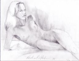 nude reclining by spike21mn