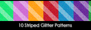 10 Striped Glitter Patterns by stained-glass-hearts