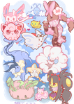Fluffy Pokemon c: by Akane-Churi