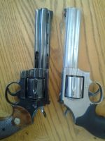 ebony and ivory pt2 colt python and 686p by blackiechan