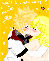 Roxas x Namine - First Kiss by shirononekojin