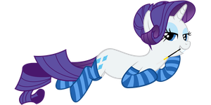 Rarity being herself by zakbo1337